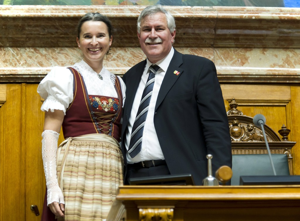 Yvette Estermann mit Nationalratspräsident Hansjörg Walter