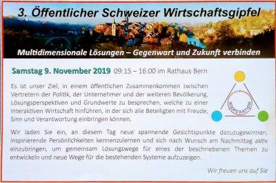 3. Öffentlicher Schweizer Wirtschaftsgipfel